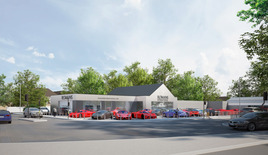 An artist's impression of the new Romans International supercar showroom