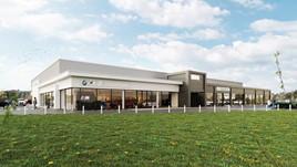 Artist's impression: the new Stratstone BMW and Mini Derby showroom