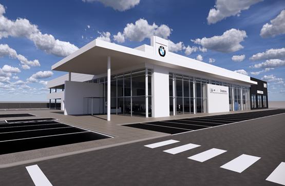 Artist's impression: the new Stratstone BMW and Mini Hull showroom