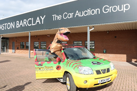 Aston Barclay's Jurassic Park-inspired Bangers4Ben rally entry