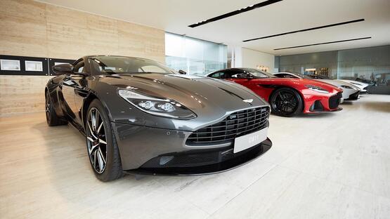 Inside HR Owen's award-winning Aston Martin dealership in Cheltenham