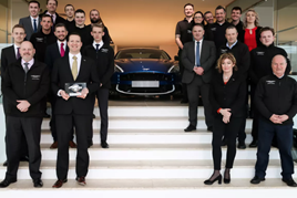 Award winners: The team at Leven Car Company's Edinburgh Aston Martin showroom