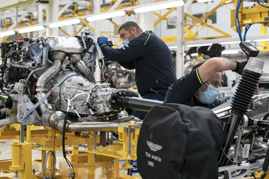 Production of the Aston Martin DBX SUV at St Athan, Wales