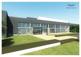 Aston Martin's planned manufacturing facility at St Athan, Wales