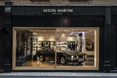 The new Aston Martin Works Heritage dealership at No.8 Dover Street, London