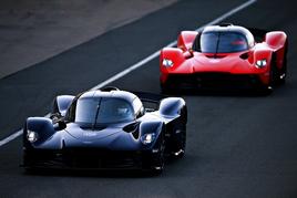 On track: Aston Martin's Valkyrie hypercar