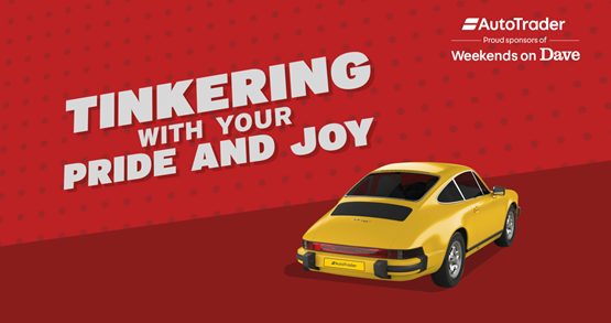 Auto Trader marketing for 'Weekends on Dave' television sponsorship