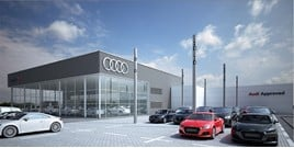 Artist's impression: the completed Lookers Audi Guildford dealership