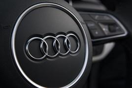 Audi steering wheel logo