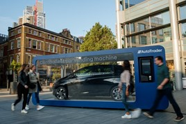 Auto Trader's Spitalfields contactless car vending machine