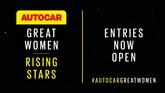 Autocar's Great Women Rising Stars initiative 2021 - nomination window now open