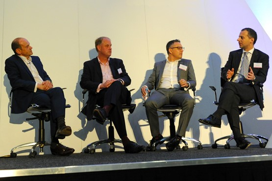 L-R: Congress chairman Tony Whitehorn,  the ICDP's Andrew Tongue, Cox Automotive's  Philip Nothard and McKinsey & Co's Cristiano Carlutti