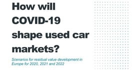 The cover of Autovista's 'Scenarios for residual value development in Europe for 2020, 2021 and 2022' whitepaper
