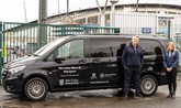 Martyn Webb, managing director of LSH Auto UK and Joanna Coates, UK Athletics CEO