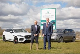 Darrell Healey, managing director of GSE Group, and Paul Barrett, managing director of Barretts Motor Group