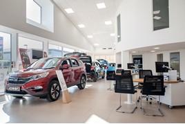 Barretts Honda showroom refurb