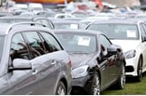 Used cars line up