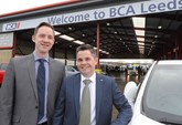 BCA operations director Stuart Pearson with Leeds centre manager Matt Gill