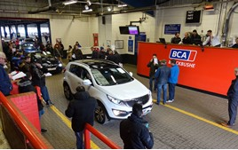A BCA remarketing centre's auction hall, February 2020