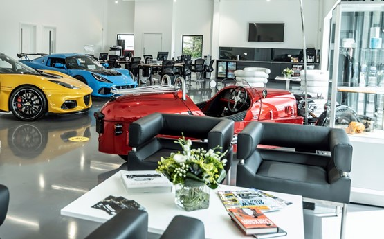 Bell & Colvill's Lotus Cars showroom in Guildford