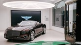 Bentley Continental GT Convertible at HR Owen's Jack Barclay Bentley showroom on Mayfair