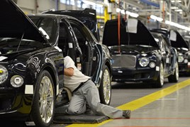 Bentley assembly line