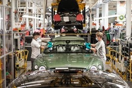 Bentley Continental GT production line in Crewe