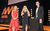 Gemma Rolf (centre), general sales manager, Marshall Mercedes-Benz of Southampton, collected the award from AM news and features editor Tom Sharpe