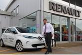 Richard Lodge, general manager of Brayley Renault Milton Keynes, charges a Renault ZOE EV