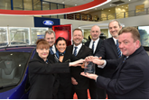 Bristol Street Motors' Marie Clunes, Peter Cotton, Natalie Higgins, Ian Gilbert, Simon Bishop, Angus Smith and Brian Naughton