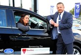 Gemma Lowery with Shaun Steed, new and used car sales manager at Bristol Street Motors Hartlepool Ford