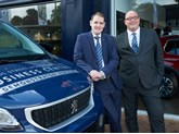 Ollie Bell, general manager at Bristol Street Motors Peugeot Oxford, and Hugh Morris, business development manager at Bristol Street Motors Peugeot Oxford