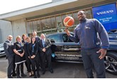 Sheffield Sharks' coach Atiba and the Bristol Street Motors Volvo Sheffield team