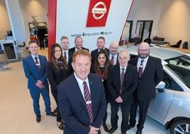 David Orriell, general manager at Bristol Street Motors Sheffield Nissan, and his team