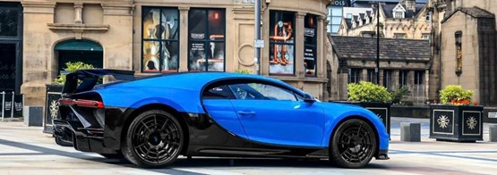 Bugatti's Chiron Pur Sport made an appearance in central Manchester