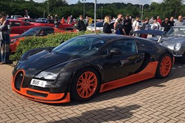 A Bugatti Veyron at the Stratstone Car Cafe