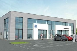 Artist's impression: Vindis Group's proposed Cambridge Volkswagen facility