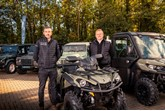 LR Motors general manager Ross Munro with ATV specialist Dave Long
