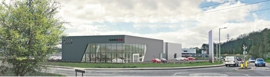 Motorline's planned Audi Canterbury car dealership facility