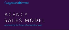 Capgemini's 'Agency Sales Model: Accelerating the future of automotive sales' report cover