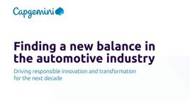 Capgemini's 'Finding a new balance in the automotive industry' report