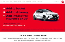 Vauxhall Online Store, digital new car retail platform