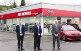 JT Hughes Group sales director, Paul Tench; John Hughes, managing director; and Ian Jones, group aftersales director