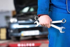 Car garage service MOT stock image