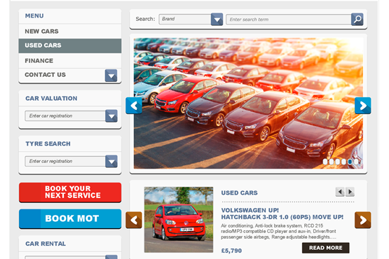 AM car dealer perfect website