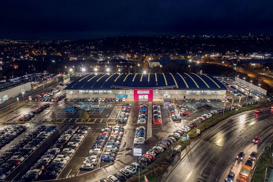 The Sytner Group's new 900-car CarShop used car supermarket retail site in Nottingham