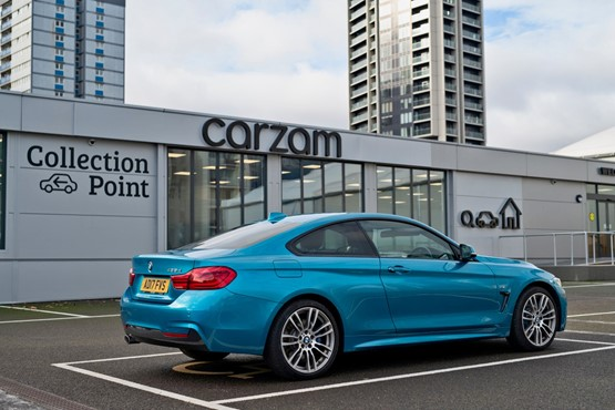 A BMW 4 Series at one of carzam's vehicle collection points