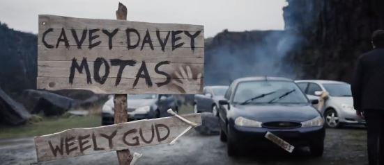 Cavey Davey Motas image from Peter Vardy CARZ advert