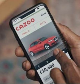 Cazoo's used car buying smartphone app