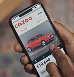 Cazoo online car sales smartphone app